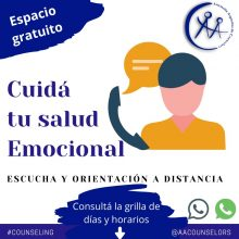 SERVICIO DE ESCUCHA y ORIENTACIÓN A DISTANCIA de la AAC