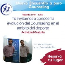 COUNSELING DEPORTIVO – 21/11 – 17hs. Charla gratuita –