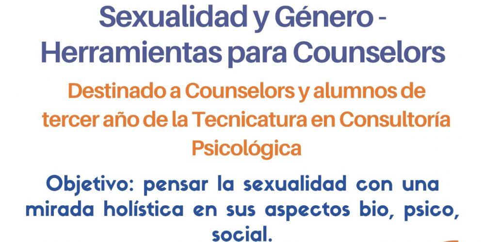 ::: Capacitaciones Octubre ::: SEXUALIDAD y GENERO