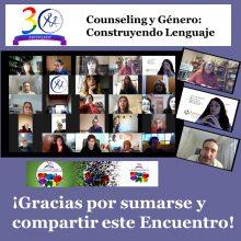 COUNSELING Y GENERO – 30º Aniversario