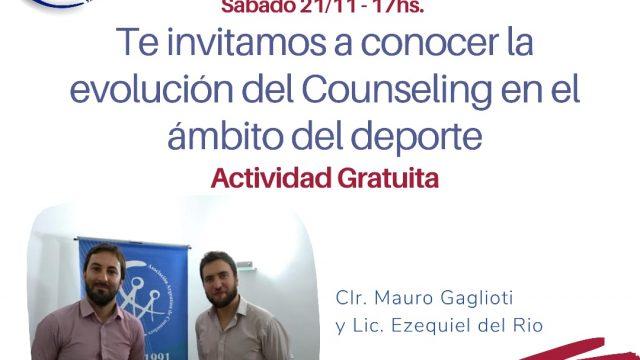 COUNSELING DEPORTIVO – 21/11 – 17hs. Charla gratuita –